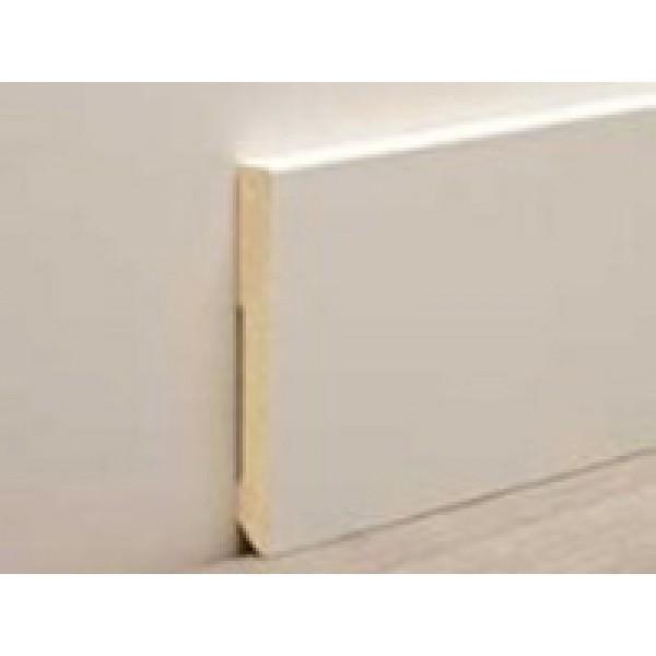Белый плинтус современный 100 мм